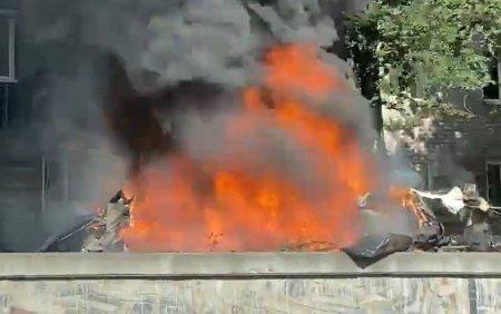 VIDEO. Posibil atentat teorist in Ucraina. Doua persoane au murit intr-o explozie