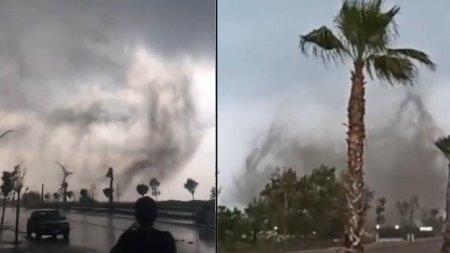 <span style='background:#EDF514'>IMAGINI</span> apocaliptice cu tornade in doua provincii din Turcia