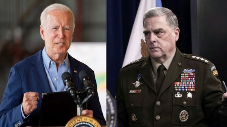 Ce spune Joe Biden despre generalul Mark Milley, care s-ar fi asigurat ca <span style='background:#EDF514'>DONALD TRUMP</span> nu va lansa arme nucleare in ultimele zile de mandat