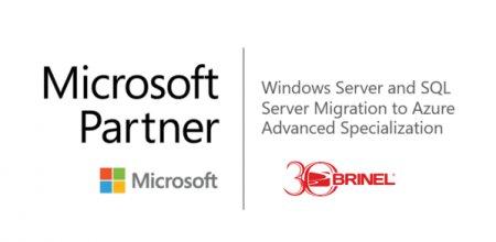 (P) BRINEL este prima companie din Romania care obtine Competenta Advanced Specialization pentru <span style='background:#EDF514'>WINDOWS</span> Server and SQL Server Migration to Microsoft Azure