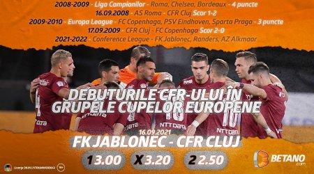 Debut pentru CFR Cluj in noua Conference League! Ce spun cotele Betano despre sansele feroviarilor