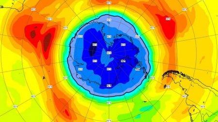 Gaura din stratul de ozon de deasupra Polului Sud este acum mai mare decat Antarctica