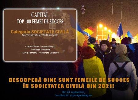 Societatea civila, dominata de figuri feminine. Capital lanseaza Top 100 Femei de succes, editia 2021