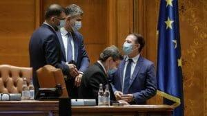 Citu si Ciolacu, <span style='background:#EDF514'>DISCURS</span>uri identice la congresul UDMR: USR PLUS a fugit de raspundere