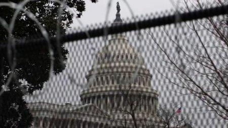 Capitoliul din Washington, aparat cu garduri inainte de mitingul de dreapta in sprijinul insurgentilor din 6 ianuarie