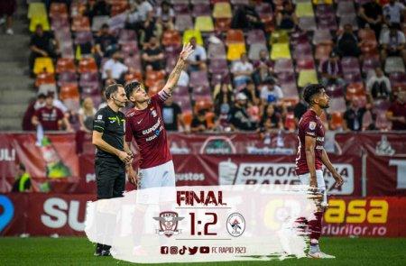 Liga 1. Rapid a pierdut cu Gaz Metan Medias si are 3 meciuri la rand cu cate doua goluri incasate