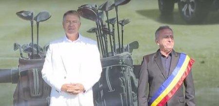 Iohannis, la golf si plimbari cu masina