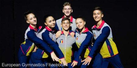 Campionatele Europene: Romania a obtinut doua medalii de argint la gimnastica aerobica