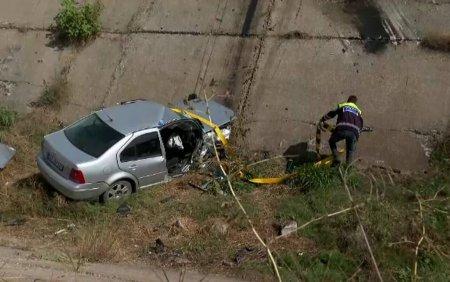 Un tanar a murit dupa ce a cazut cu masina intr-un canal de irigatii. Șoferul ie<span style='background:#EDF514'>SISE</span> recent din inchisoare