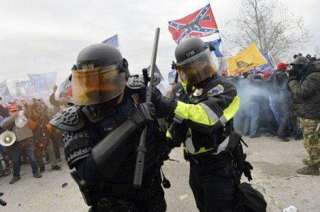 SUA: Capitoliul de la Washington aparat de numerosi politisti in cursul unei manifestatii