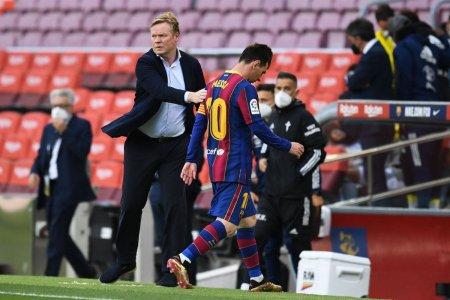 Koeman s-a aparat de critici folosindu-se de Messi: Cu el in teren, am pierdut 2-8 cu <span style='background:#EDF514'>BAYER</span>n