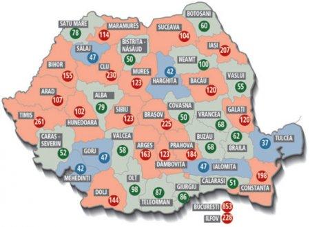H<span style='background:#EDF514'>ARTA</span> comertului modern local: Bucurestiul are singur 850 de magazine, cat cele mai putin dezvoltate 16 judete impreuna. In total in Romania sunt 5.250 de magazine moderne, cu vanzari de 13-14 miliarde de euro anual
