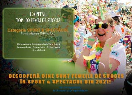 Artistele si sportivele ce au pus Romania pe harta globala. Capital lanseaza Top 100 Femei de Succes, editia 2021