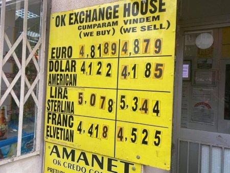 Curs valutar, 20 septembrie. Leul pierde iarasi teren in raport cu euro. Date oficiale BNR