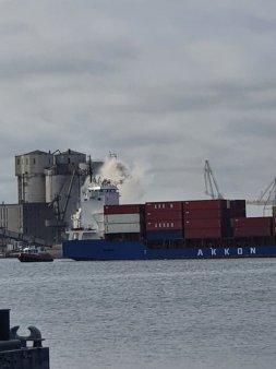 VIDEO Alerta in Portul Constanta. Un incendiu a izbucnit pe un vapor