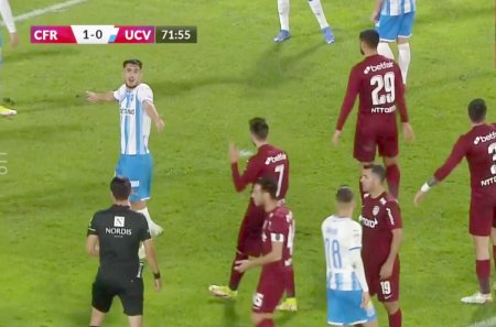 Marcel Birsan a comis-o! Penalty nedat si rosu neacordat in CFR Cluj - CS Universitatea Craiova 1-0