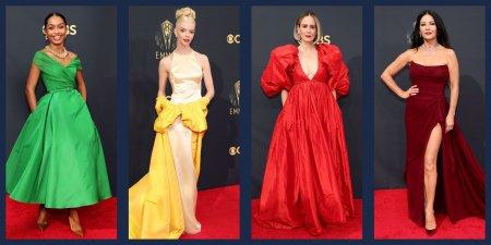 De la rosu, la verde electric: Ținute spectaculoase la Emmy <span style='background:#EDF514'>AWARDS</span> 2021 (VIDEO)