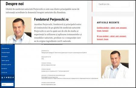 Un medic roman foloseste fotografia unui cunoscut doctor rus pe site-ul prin care promoveaza produse naturiste