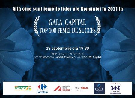 Femeile lider ale Romaniei vor fi premiate in cadrul Galei Capital Top 100 Femei de Succes