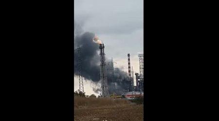 Incendiu la rafinaria Lukoil de la Ploiesti. A fost emis un mesaj Ro-Alert