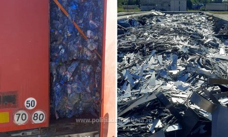 Deseuri din metal si plastic, oprite la granita cu Bulgaria. Cele peste 37 de tone aveau ca destinatie judetele Buzau si <span style='background:#EDF514'>CALARASI</span>