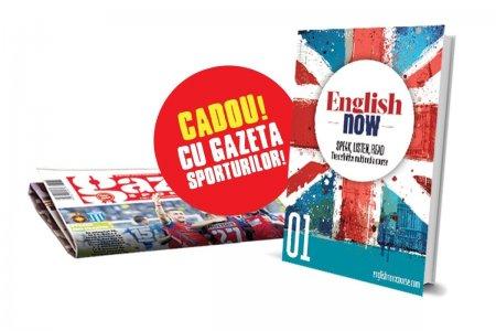 Cartea English Now, vol. 1, distribuita gratuit miercuri impreuna cu Gazeta Sporturilor