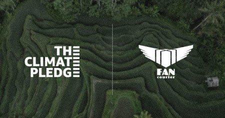 FAN Courier, prima companie din Romania, care semneaza 'The Climate Pledge', initiativa de accelerare a reducerii emisiior de carbon