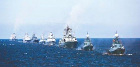 Flota rusa din Marea Neagra, trageri cu rachete si artilerie