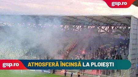 Atmosfera incinsa la Petrolul - FC<span style='background:#EDF514'>U CRAIOVA</span>!
