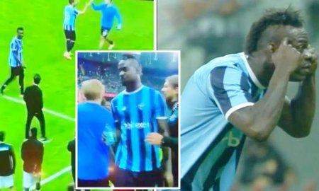 Mario Balotelli, show total contra lui Besiktas » A marcat un gol superb, apoi a avut un mesaj pentru antrenorul advers si a provocat un conflict general