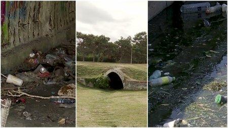 Groapa de gunoi, in mijlocul celui mai mare parc din Constanta