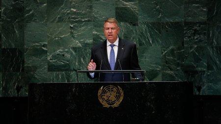 Discursul presedintelui Klaus Iohannis de la tribuna Adunarii Generale a ONU (VIDEO)