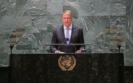 Klaus Iohannis, la Adunarea Generala a ONU: Trebuie sa ne asiguram ca restrictiile nu amplifica incalcarile drepturilor