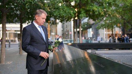 Klaus Iohannis i-a comemorat pe romanii decedati pe 11 septembrie 2001 la Turnurile Gemene