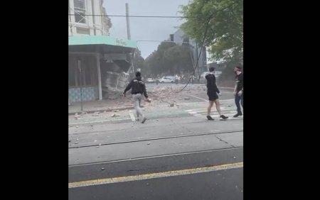 Cutremur de magnitudine 6.0 in Australia. Strazile sunt pline de moloz. Este ca o zona de razboi