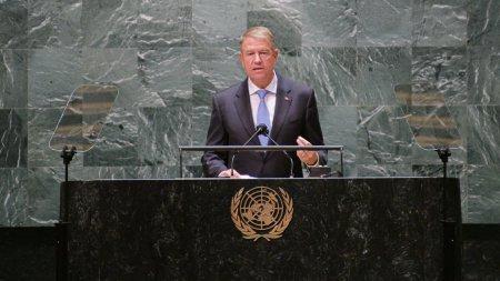 Klaus Iohannis, la Adunarea Generala a ONU: Romania ramane ferm angajata in promovarea si protectia drepturilor omului