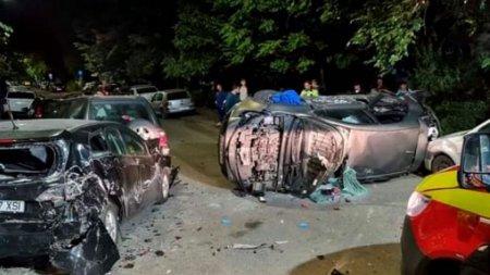 Accident cu sapte masini, in cartierul Militari din Capitala. Patru persoane au ajuns la spital