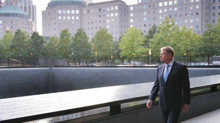 Klaus Iohannis, moment de reculegere in memoria victimelor atentatelor din 11 septembrie 2001 (FOTO)