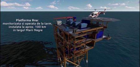 Prima platforma de productie gaze naturale construita si instalata in Romania in ultimii 30 de ani. Cand va fi pusa in functiune VIDEO