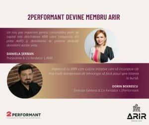 2Performant, companie de tehnologie, primul emitent de pe AeRO care devine membru ARIR