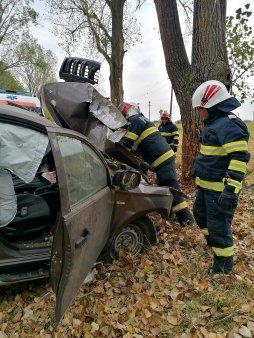 Accident mortal pe un drum judetean din Giurgiu. Un sofer de 74 de ani a murit