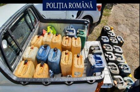 Politia a capturat o grupare de hoti de carburanti din Galati si Vrancea. La domiciliile hotilor, 6,5 tone de carburanti