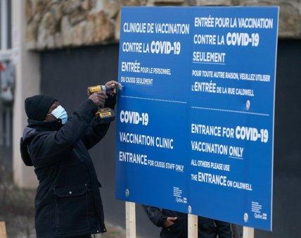 Un barbat din Canada a lovit o asistenta cu pumnul in fata pentru ca i-a vaccinat sotia