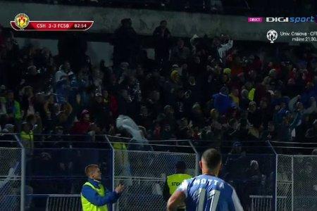24 de minute EXPLOZIVE la Hunedoara: FCSB, egalata dupa ce a condus cu 3-0!