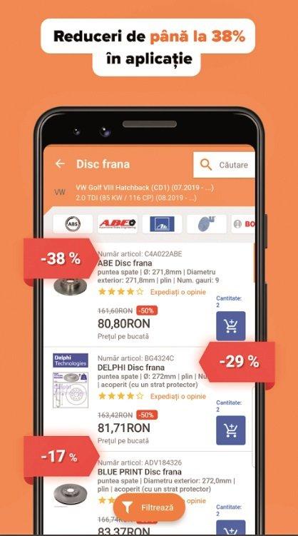 Aplicatia zilei: AUTODOC - Piese auto la preturi mici online