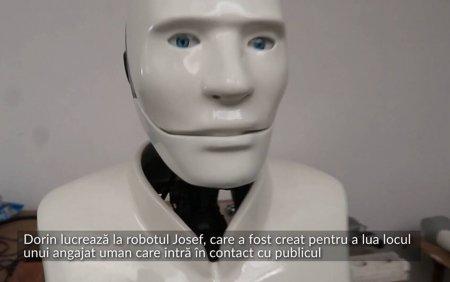 VIDEO Un oradean lucreaza la un robot menit sa ia locul unui angajat uman care intra in contact cu publicul