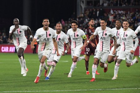 PSG castiga in prelungiri cu Metz si ramane cu punctaj maxim in Ligue 1 | Violente intre suporteri la alte doua partide