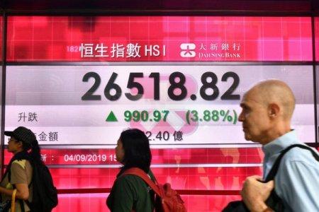 Dupa zile intregi de pierderi, actiunile Evergrande se apreciaza cu peste 17% pe bursa din Hong Kong, rezultat reflectat si in rezultatele altor dezvoltatori imobiliari. Regiunea <span style='background:#EDF514'>ASIA</span>-Pacific revine pe plus