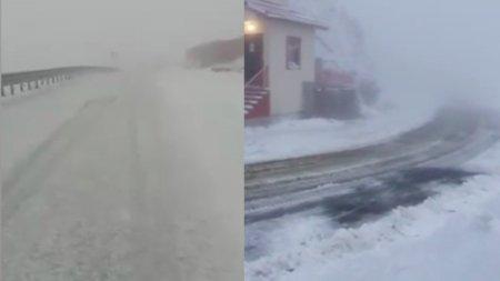 Primele imagini cu iarna pe <span style='background:#EDF514'>TRANSFAGARA</span>san si Transalpina. Dimineata cu 14 recorduri termice la statiile meteo