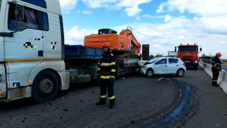 Un mort si un ranit, intr-un accident rutier pe DN5 - Video
